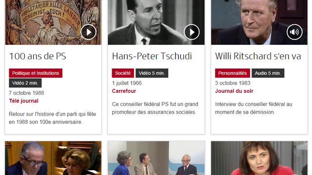 Partis et élections dans les archives de la RTS.