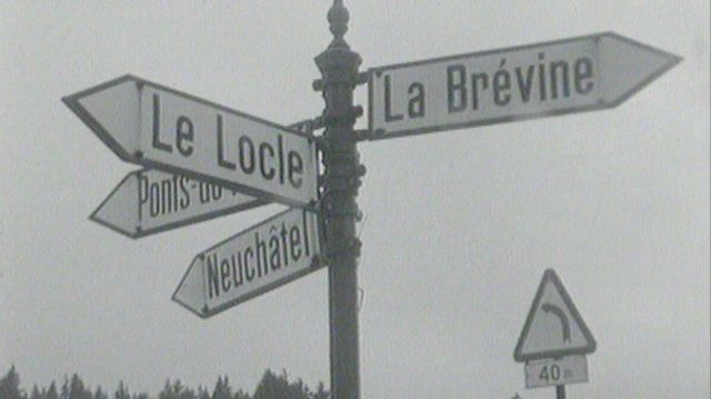 La Vallée de la Chaux-du-Milieu, en 1969. [RTS]
