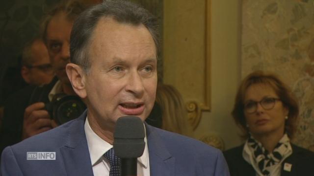 """""""La progression du PLR ne date pas d'aujourd'hui"""", Philipp Müller, président PLR [RTS]"""