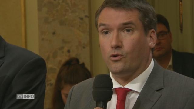 """""""L'UDC, au plus bas aux Etats, ne peut avoir 2 sièges au CF"""", Christian Levrat, président du PS [RTS]"""