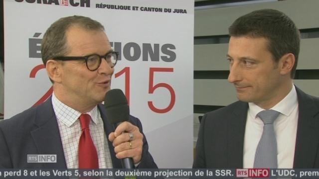 """""""Cela décuple mon envie d'être au 2e tour"""", Michel Thentz (PS-JU) [RTS]"""