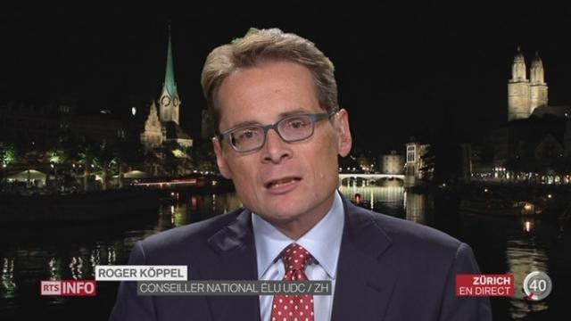 Elections fédérales: entretien avec Roger Köppel, conseiller national élu UDC [RTS]