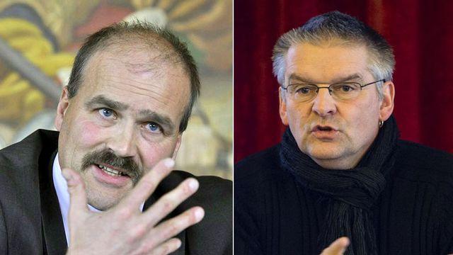 Philippe Bauer et Denis de la Reussille. [Dominic Favre/Stefan Meyer - Keystone]