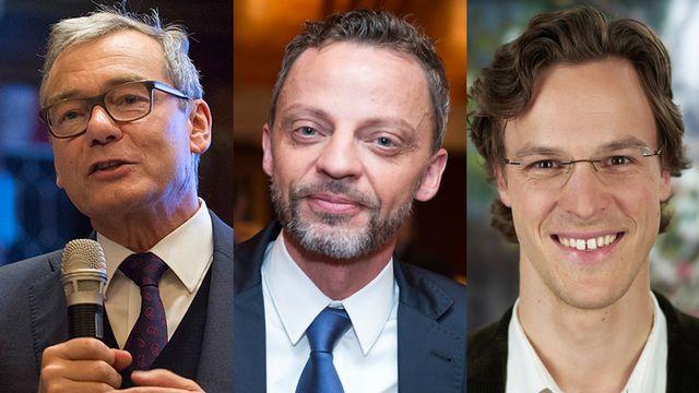 Ruedi Noser, Hans-Ueli Vogt et Bastien Girod.