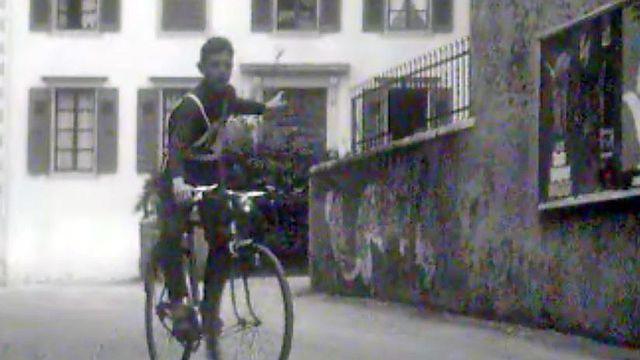 Reportage en 1962 à Nyon sur l'examen scolaire de cycliste.
