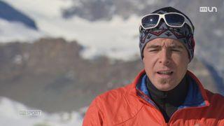 Dani Arnold s'est mis en tête de battre les records d'alpinisme de vitesse des principaux sommets des Alpes [RTS]
