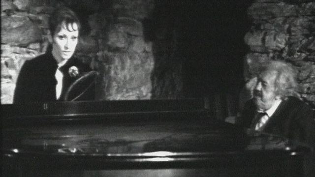 Michel Simon et Barbara à Locarno en 1970. [RTS]