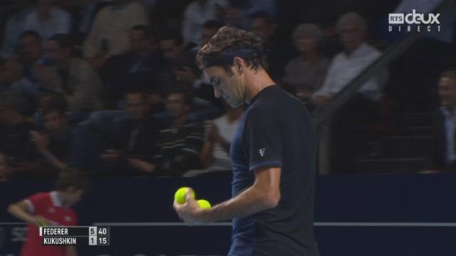 1er tour, Federer – Kukushkin (6-1): un 1er set facilement remporté par le Bâlois [RTS]