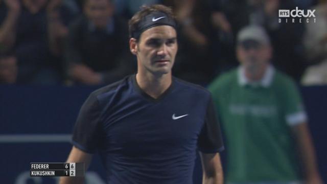 1er tour, Federer–Kukushkin (6-1, 6-2): match à sens unique remporté en 54 minutes par Federer [RTS]