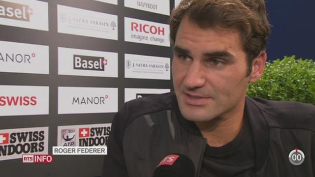 Tennis- Swiss Indoors de Bâle: le local Roger Federer en est une nouvelle fois la tête d'affiche [RTS]
