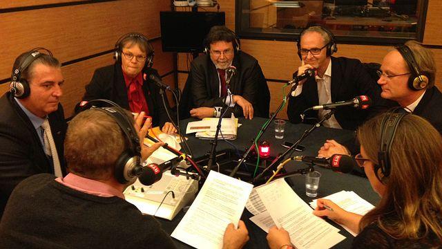 Le débat en vue du second tour de l'élection au Conseil des Etats à Genève. [Jérôme Jeannin - RTS]