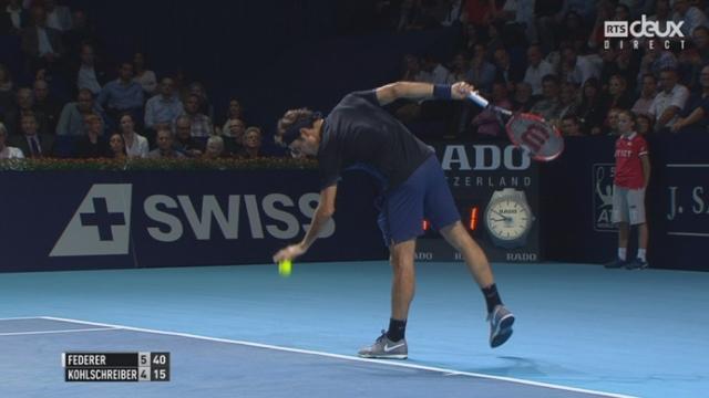 1-8, R. Federer – P. Kohlschreiber (6-4): 1re manche remportée par le Bâlois [RTS]