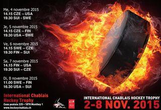 L'International Chablais Hockey Trophy se dispute du 4 au 8 novembre 2015 à la patinoire de Monthey.  [hockeychablais.ch]