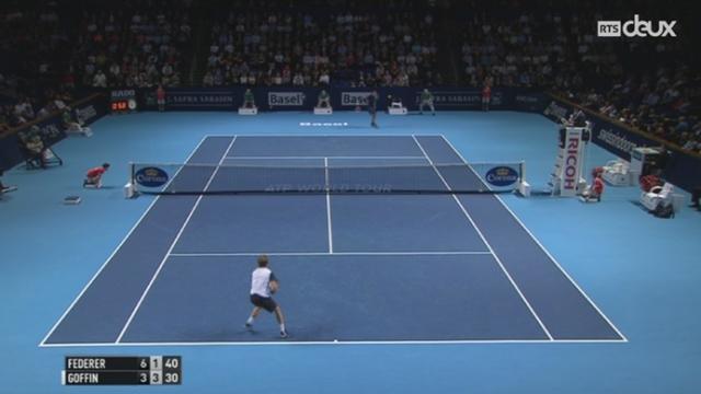Tennis - Indoors Basel: face à David Goffin, Federer s'est qualifié pour les demi-finales [RTS]