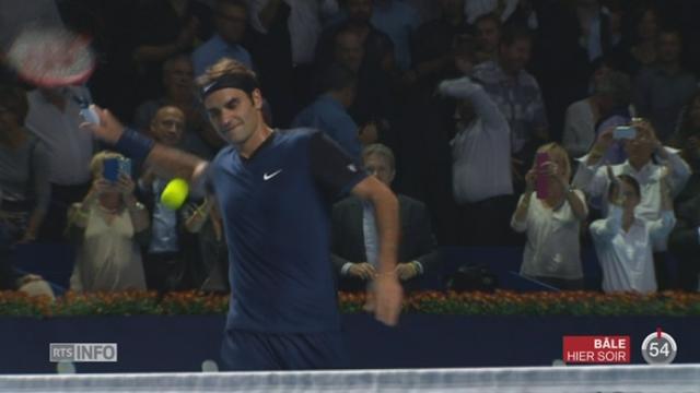 Tennis - Swiss Indoors de Bâle: Federer arrive en demi-finales avec difficulté [RTS]