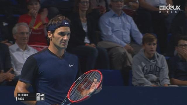 Roger Federer – Jack Sock (3-1): le Bâlois fait le break dans ce début de match [RTS]