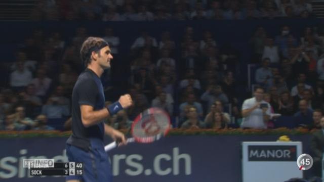 Tennis - Swiss Indoors de Bâle: Federer atteint la finale [RTS]