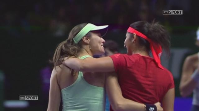 Finale double dame, Hingis-Mirza - Muguruza-Suarez Navarro (6-0, 6-3) : Victoire en deux sets de Martina Hingis et Sania Mirza [RTS]