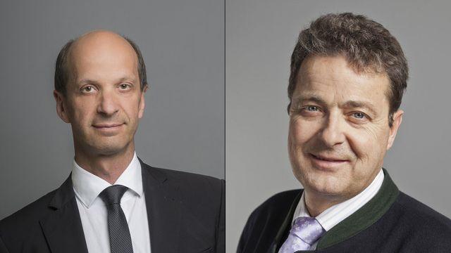 Le Valais sera toujours représenté au Conseil des Etats par deux PDC, Beat Rieder et Jean-René Fournier. [Keystone]