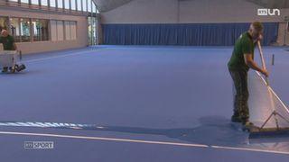 Tennis: reportage sur le revêtement indoor [RTS]