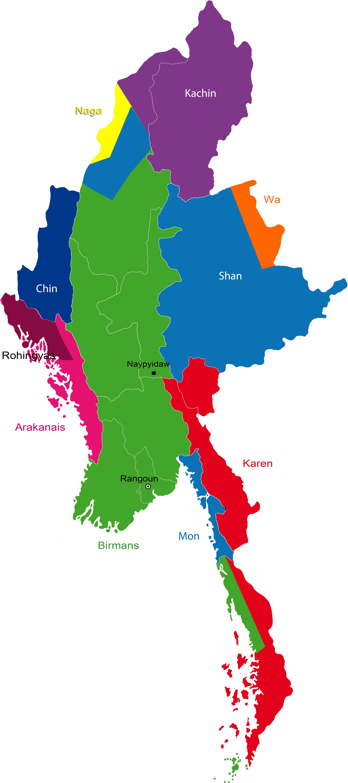 Carte Politique Birmanie.La Birmanie Sur La Voie De La Democratie Rts Ch Monde