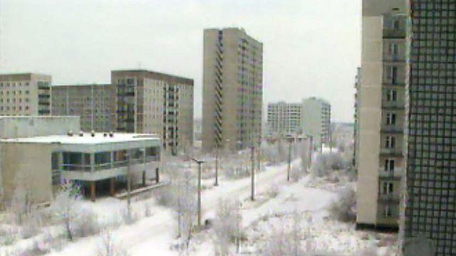 Retour dans la cité de Pripiat, proche de Tchernobyl.
