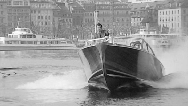 Police du port, Genève, 1968. [RTS]