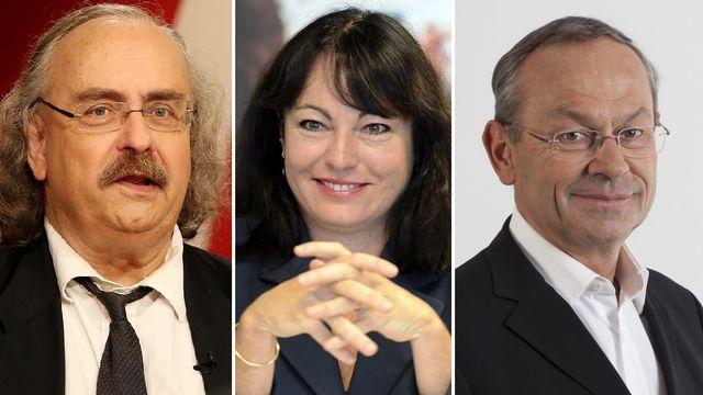 Luc Recordon (Verts), Géraldine Savary (PS) et Olivier Français (PLR). [Laurent Gillieron/Magali Girardin/PLR - Keystone]
