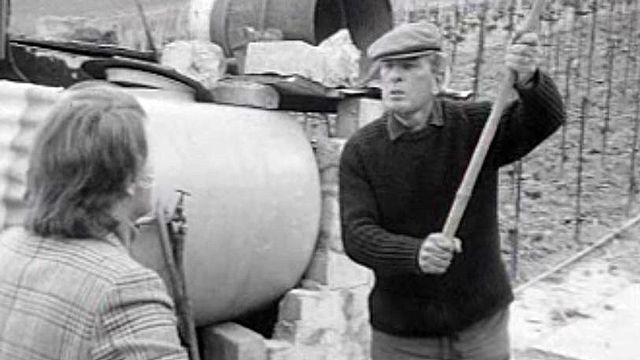 Franz Weber confronté à la colère d'un vigneron.
