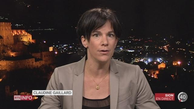 VS - Affaire d'escroquerie: les explications de Claudine Gaillard, à Sion [RTS]
