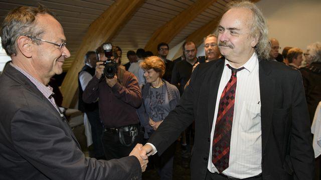 Olivier Français (PLR) a évincé Luc Recordon (Verts) du Conseil des Etats. [Jean-Christophe Bott - Keystone]