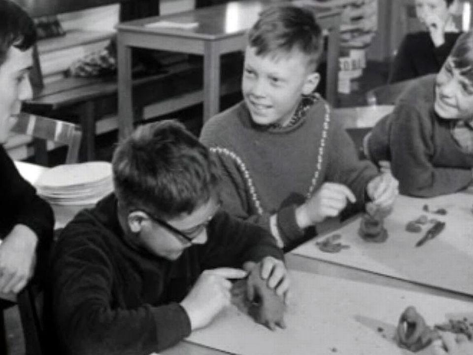 L'Ecole du dimanche propose des bricolages à ses jeunes paroissiens.