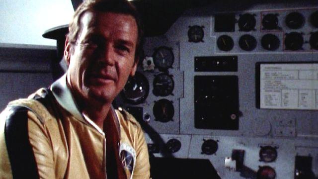Sur le tournage de Moonraker en 1979. [RTS]