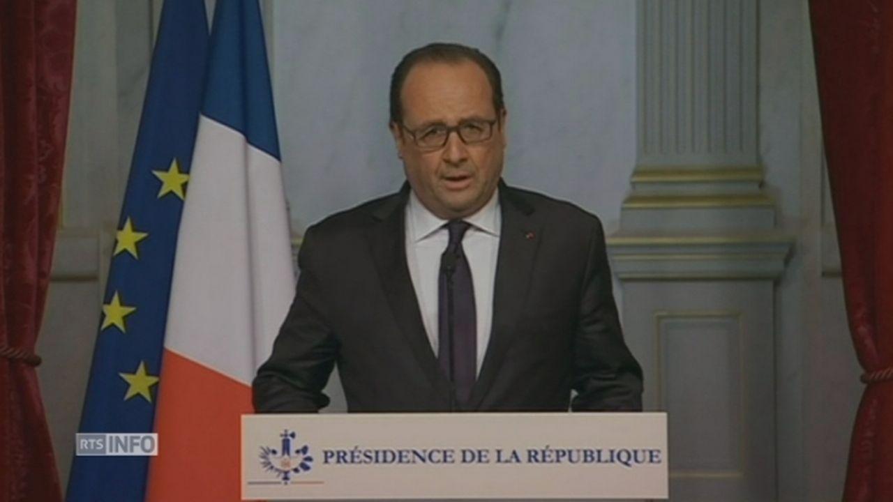 François Hollande annonce la fermeture des frontières [RTS]