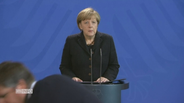 """Angela Merkel: """"Nous mènerons le combat à vos côtés"""" [RTS]"""