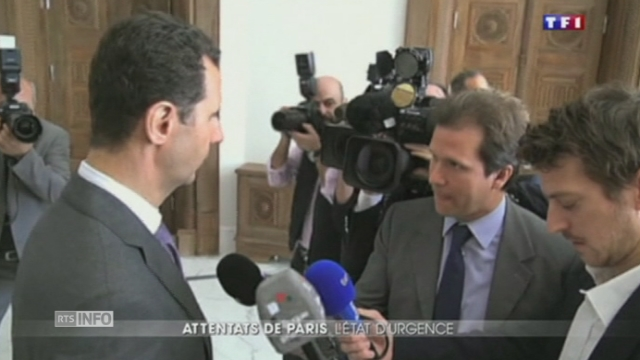 """Bachar al-Assad: """"Nous souffrons de la même menace terroriste"""" [RTS]"""
