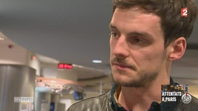 Attentats de Paris: le témoignage de Julien Pearce, Journaliste présent au Bataclan aux moments des faits [RTS]