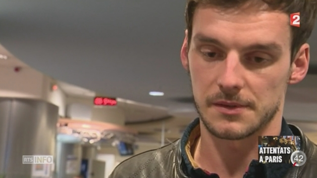 Attentats de Paris: le témoignage de Julien Pearce, Journaliste présent au moment des faits au Bataclan [RTS]