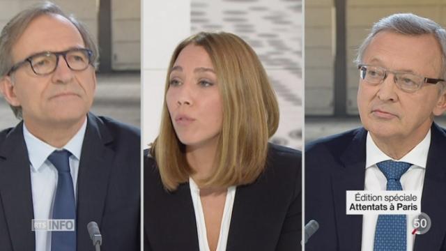 Attentats de Paris: le point avec Xavier Colin et Jean-Philippe Schaller (1-2) [RTS]