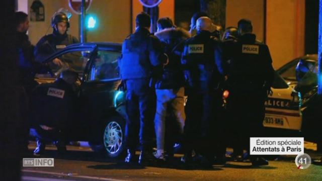 Attentats de Paris: des images prises sur le vif montrent l'effroi et la panique des gens [RTS]