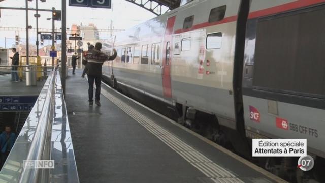 Attentats de Paris: les trains en direction de Paris ont été désertés [RTS]