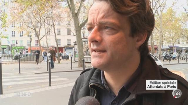 Attentats de Paris: le onzième arrondissement a été particulièrement touché [RTS]