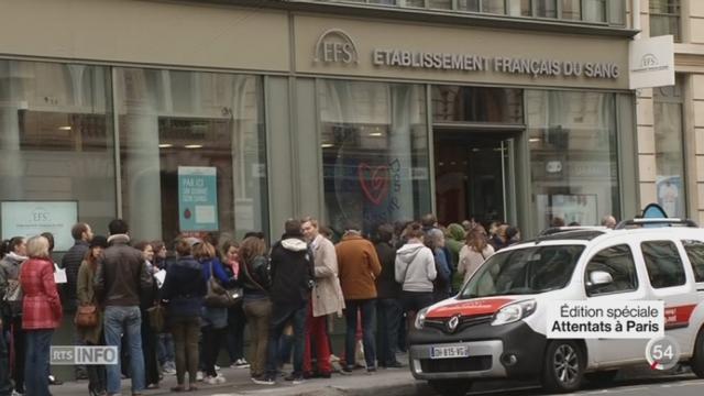 Attentats de Paris: des dispositifs ont été mis en place pour les rescapés [RTS]