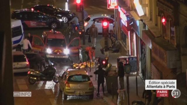 Attentats de Paris: les attaques ont causé la mort d'au moins 128 personnes [RTS]