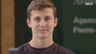 A 15 ans, Damien Wenger a tout sacrifié pour sa carrière professionnelle de tennisman [RTS]