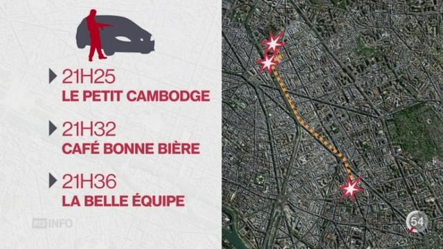 Attentats de Paris: compte-rendu complet des attaques du 13 novembre 2015 [RTS]