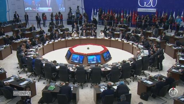 G20: les chefs d'État réagissent aux attentats de Paris et évoquent des mesures contre le terrorisme [RTS]