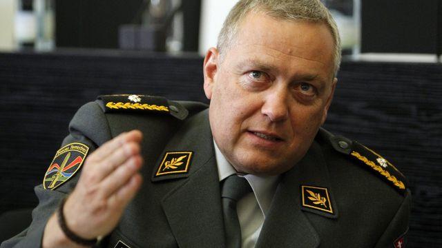 Denis Froidevaux, président de la Société suisse des officiers [Urs Flueeler - Keystone]