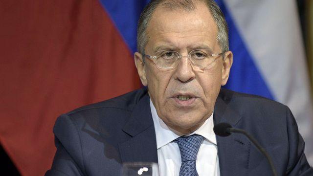 Sergei Lavrov appelle à des efforts communs de la Russie, de la France et d'autres pays. [Hans Punz - EPA/Keystone]