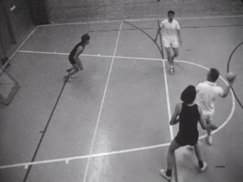 Partie de tchoukball à Genève en 1971. [RTS]